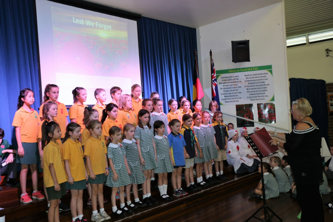 Year 2 to Year 6 choirs performance at special school functions